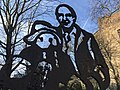 Michael Bond and Paddington statue.jpg