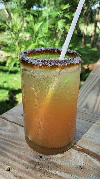 Michelada - Michelada in a salt-rimmed glass