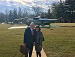 Mike and Karen Pence prior to boarding Marine Two for the first time.jpg