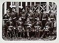 Mikkelin tarkkampujapataljoonan upseereja Lappeenrannan lähellä leirillä (J David, 1896).jpg