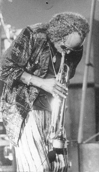 Jazz fusion - Trumpeter Miles Davis performing in Rio de Janeiro in 1984