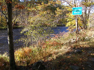 Millers River - Millers River near Erving at autumn