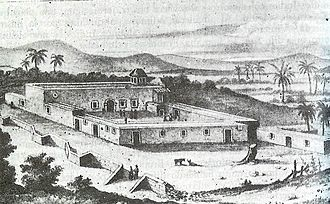 Spanish missions in Baja California - Misión de Nuestra Señora de Loreto Conchó in the 18th century, the first permanent Jesuit mission, established by Juan María de Salvatierra in 1697.