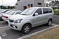Mitsubishi Zinger of Sunrise Airlines Parked at Taipei Songshan Airport 2nd Carpark 20150210.jpg