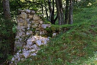 La Heutte - Ruins of the Le Van medieval glass factory