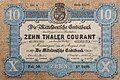 Mitteldeutsche Creditbank, 10 Taler 1856, Vorderseite.jpg