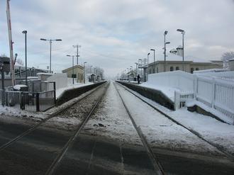 Moira railway station - Moira station in the winter.