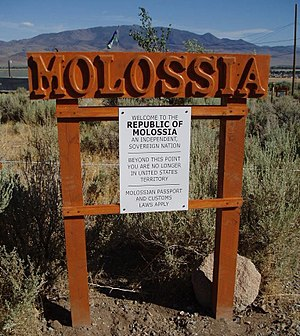 Republic of Molossia - Border sign, Harmony Province.