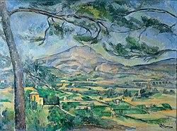 保羅塞尚: Mont Sainte-Victoire with Large Pine
