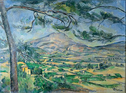 Mont Sainte-Victoire, painted by Paul Cezanne Paul Cezanne 107.jpg