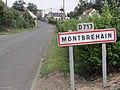 Montbrehain (Aisne) city limit sign.JPG