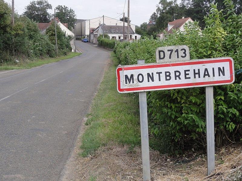 Montbrehain (Aisne) city limit sign