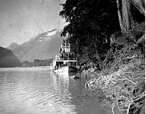 Monte Cristo (sternwheeler) - Image: Monte Cristo (steamboat) on Skeena River