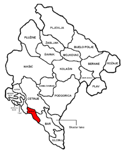 Budva Municipality in مونٹینیگرو