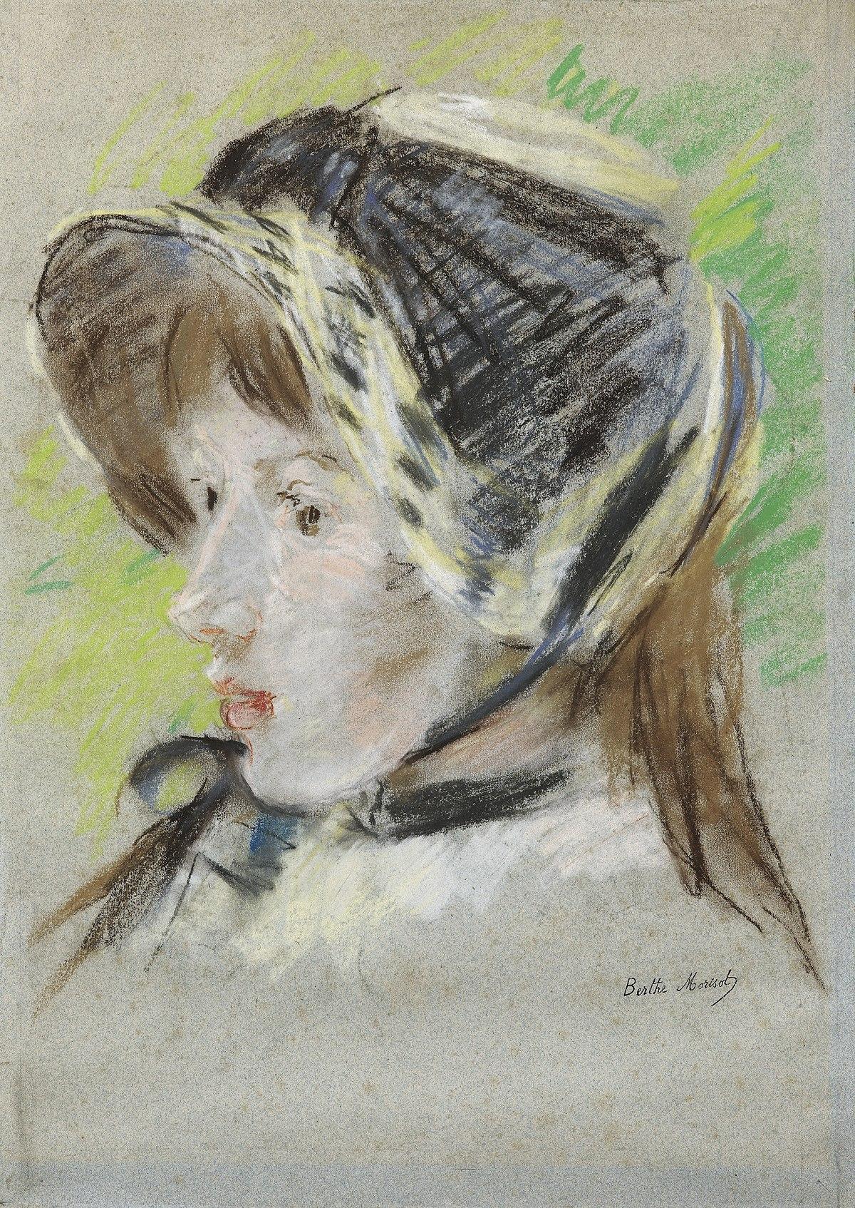 File:Morisot - JEANNE PONTILLON À LA CAPELINE, 1884.jpg - Wikimedia Commons