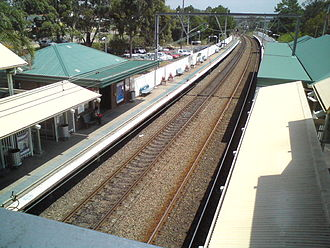 Morisset, New South Wales - Morisset train station