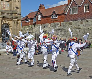 Morris dance English performance folk dance
