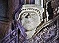 Morteau. Sculpture sur un pilier de l'église.jpg