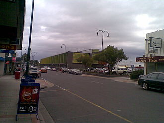 Morwell, Victoria - Commercial Road, Morwell's main street, looking towards the Latrobe City Corporate Headquarters