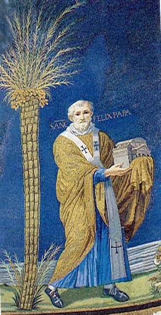 Papal tombs in old St. Peter's Basilica - Image: Mosaic of Felix IV (III) in Santi Cosma e Damiano, Rome, Italy (527–530)