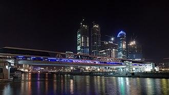 Bagration Bridge - Bagration bridge at night
