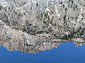 Mount Heyburn reflected in Lily Lake (14871712199).jpg
