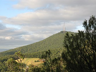 Dandenong Ranges - Mount Corhanwarrabul summit from the northern face of One Tree Hill