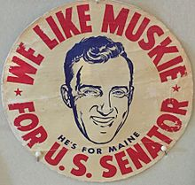 edmund muskies 1958 senate campaign essay Edmund sixtus  ed  muskie (  march 28, 1914 - march 26, 1996) was an american statesman who was the 58th united states secretary of state under president jimmy carter , a us senator from maine from 1959 to 1980, the 64th governor of maine from 1955 to 1959, a member of the maine house of representatives from 1946 to 1951, and the democratic party 's nominee for vice president of the.