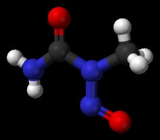 N-Nitroso-N-methylurea - Image: N nitroso N methylurea from xtal 3D balls