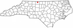 Location of Eden within North Carolina