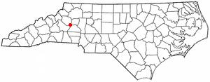 Granite Falls, North Carolina - Image: NC Map doton Granite Falls