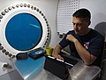 NEEMO 22 Aquanaut Kjell Lindgren in the Aquarius habitat.jpg