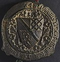 NLW Penrice and Margam Deeds 212 (seal 1) back (8633593163).jpg