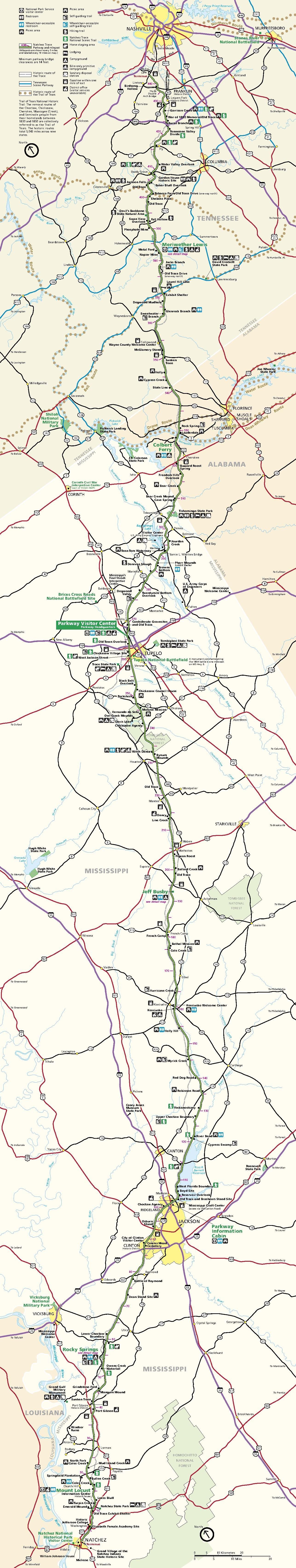 File Nps Natchez Trace Map Pdf Wikimedia Commons