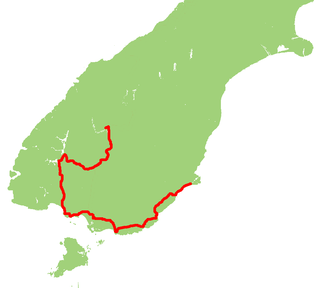 Southern Scenic Route Road in New Zealand