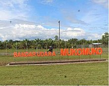 Name sign of Mukomuko Airport.jpg