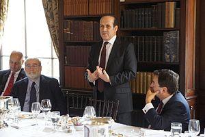 American Turkish Society - ATS Vice Chairman Larry Kaye, Ambassador Namik Tan, and ATS Chairman Murat Koprulu