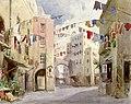 Napoli, strada Acquaquilia, bozzetto di Riccardo Salvadori per A Basso Porto (1894) - Archivio Storico Ricordi ICON002556.jpg