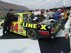 Bang! Racing - Travis Kvapil's No. 24 truck after winning the team's first race