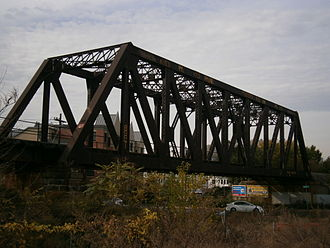 National Docks Secondary - Bridge from embankment to trestle at Pacific and Grand