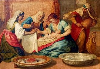 Nativity of Mary - Nativity of Mary, Spain, 17th century.