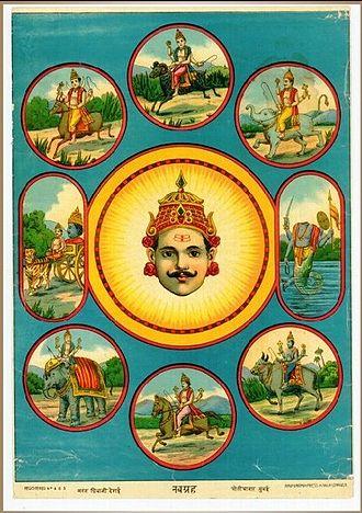 Navagraha - Navagrahas, a Raja Ravi Varma painting.