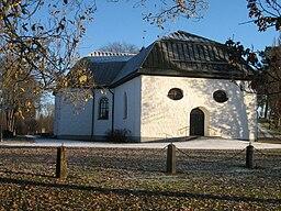 Nedre Ulleruds kirke beliggende straks øst for Deje