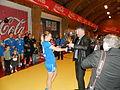 Neistin won the womens trophy of Faroese handball 2013.JPG