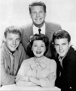 The Adventures of Ozzie and Harriet - The Nelson family; (clockwise from top) Ozzie, Ricky, Harriet and David, 1960