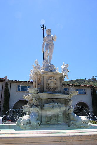 Palos Verdes Estates, California - Neptune Fountain, Malaga Cove Plaza