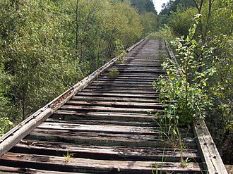 New River (Santa Fe River tributary) - Old railroad trestle over the New River, future route of Palatka-Lake Butler State Trail as well as the Florida National Scenic Trail