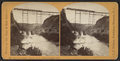 New Iron R.R. Bridge, Portage, N.Y. -- (first passenger train.), by Walker, L. E., 1826-1916.png