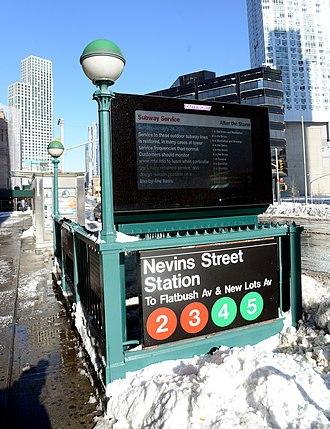 Nevins Street (IRT Eastern Parkway Line) - Station entrance