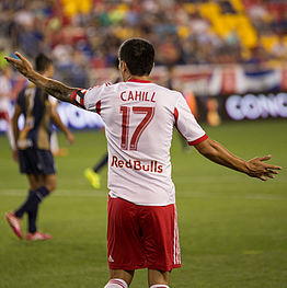 ... number, as depicted on the association football jersey of Tim Cahill